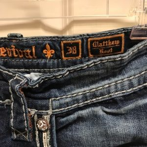 Pair of like new Rock Revival men's Matthew jeans.